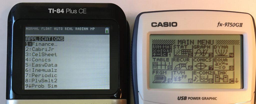 Ti 84 plus ce vs casio fx 9750gii math class calculator ti 84 plus ce vs casio fx 9750gii urtaz Choice Image